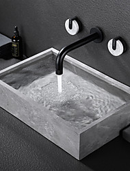 cheap -Bathroom Sink Faucet - Rotatable / Wall Mount Painted Finishes Mount Inside Two Handles Three HolesBath Taps