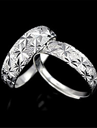 cheap -Couple Rings Geometrical Silver Copper Silver-Plated Precious Fashion 1 set Adjustable / Couple's / Promise Ring