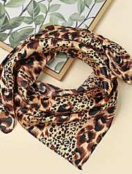 cheap -Women's Square Scarf Holiday Coffee Scarf Color Block / Polyester