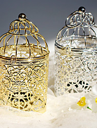 cheap -Electroplated Metal Products Birdcage Candlestick Furniture Wedding Props