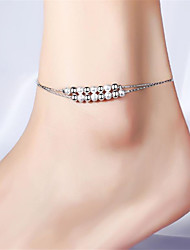 cheap -Anklet Stylish Fashion Punk Women's Body Jewelry For Street Gift Copper Ball Silver 1 PC