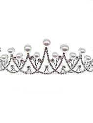 economico -accessori per capelli corona da sposa super flash perla strass fascia copricapo festa di compleanno vendita calda transfrontaliera accessori pettine per capelli in europa e in america