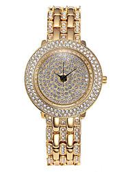 cheap -Missfox women's high-end crystal quartz watch diamond-studded crystal round alloy ladies watch