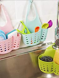 cheap -Kitchen Sink Drain Hanging Bag Sink Storage Organize Supplies Hanging Basket Drain Rack