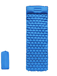 cheap -Inflatable Sleeping Pad Camping Pad Air Pad with Pillow Outdoor Camping Portable Ultra Light (UL) Moistureproof Anti-tear TPU Nylon 195*60*5 cm for 1 person Fishing Beach Camping / Hiking / Caving