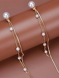 cheap -Women's Drop Earrings Earrings Elegant Fashion Sweet Imitation Pearl Earrings Jewelry Gold For Anniversary Birthday Prom Date 1 Pair