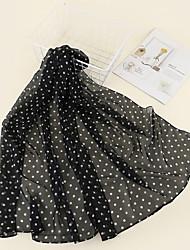 cheap -Women's Chiffon Scarf Daily Wear Black Scarf Paisley / Polyester