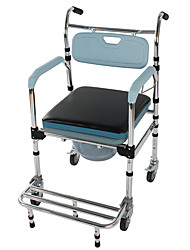 cheap -4 in 1 Multifunctional Aluminum Elder People Disabled People Pregnant Women Commode Chair Bath Chair Light Blue Furniture