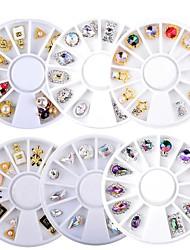 cheap -6 Pcs/set 3D Charm Alloy Nail Rhinestones Nail Art Decorations Perfume Bottle Bow Flowers Triangle DIY Nail Jewelry Supplies