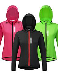 cheap -WOSAWE Women's Cycling Jersey Cycling Jacket Summer Bike Jacket Tracksuit Windbreaker Windproof Breathable Back Pocket Sports Solid Color Black / Pink / Green Clothing Apparel Loose Bike Wear