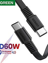 cheap -UGREEN USB C Cable High Speed 3 A 2.0m(6.5Ft) 1.0m(3Ft) PVC(PolyVinyl Chloride) For Xiaomi Huawei Phone Accessory