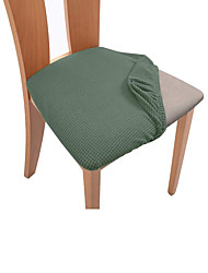 cheap -Dinning Chair Seat Cover Stretch Chair Slipcover Soft Plain Solid Color Durable Washable Furniture Protector For Dinning Room Party