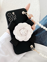 cheap -Luxury 3D Flower Phone Case For Phone 12 Pro Max 11 SE 2020 X XR XS Max 8 7 Shockproof Dustproof Soft TPU Back Cover with Pearl Bracelet
