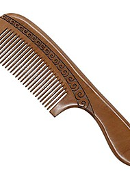 cheap -natural peach wood hair comb no static carved comb for head hair,mustache,beard with handle, tm202