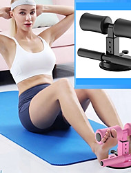 cheap -Sit-Up Aids 1 pcs Sports NBR Manganese steel Home Workout Fitness Gym Workout Adjustable Strength Training Anti Slip Durable Muscle Building Weight Loss Muscle Toning For Men Women