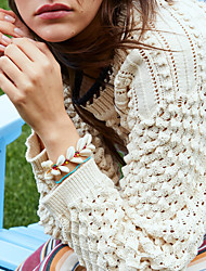 cheap -Women's Bracelet Geometrical Heart Stylish Simple Boho Shell Bracelet Jewelry Coffee For Daily Promise