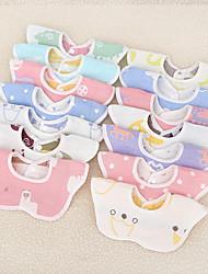 cheap -Bib Cotton Six-Layer Gauze Bib Baby Products Bib Cartoon Jacquard 360 Baby Gauze Bib