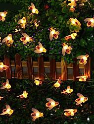cheap -Solar String Lights Outdoor 2pcs 1pcs 8 Models Solar Powered Cute Honey Bee Led String Fairy Light 30leds 6.5m Bee Outdoor Garden Fence Patio Christmas Garland Lights