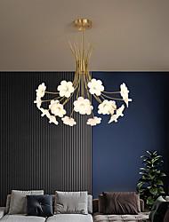 cheap -LED Pendant Light Floral Design Modern Nordic Desgin 50cm 70cm Flush Mount Light Copper Brass Dining Room Living Room Bedroom 220-240V 110-120V