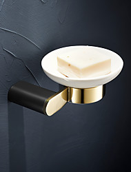 cheap -Soap Dishes Holders Creative Modern Brass Wall Mounted for Bathroom Golden 1pc
