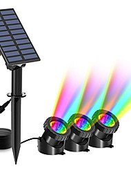 cheap -Submersible Light Outdoor Solar Powered Underwater Light Multi Color Submersible Pond Spotlights Waterproof Landscape Lamp for Outdoor Garden Pool Pond Decoration Lighting