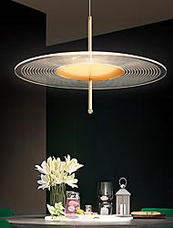 cheap -LED Pendant Light Kitchen Island Light Modern Gold 35/45/55 cm Single Design Chandelier Acrylic Artistic Style Stylish Painted Finishes 220-240V 110-120V