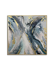cheap -Oil Painting Handmade Hand Painted Wall Art Blue Abstract Modern Minimalist Home Decoration Decor Rolled Canvas No Frame Unstretched