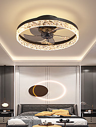 cheap -LED Ceiling Fan Light Black White Coffee Gold 50 cm Dimmable Ceiling Fan Aluminum Modern Style Classic Stylish Painted Finishes LED Modern 220-240V 110-120V