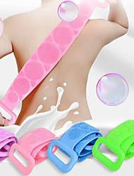 cheap -Silicone Bath Towel Scrubbing Towel Bathing Back Massage Double-sided Scrubbing Strip Brush