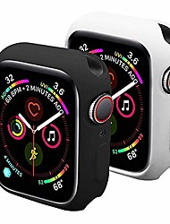 cheap -sundo compatible for apple watch case soft tpu thin lightweight protective bumper cover guard accessories for smartwatch(black/white,series 3/2 38mm)