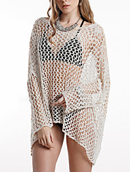 cheap -spring and summer amazon knitted women's new large size european and american hand crochet blouse solid color bikini beach sunscreen shirt