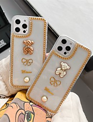 cheap -Phone Case For Apple Back Cover iPhone 12 Pro Max 11 SE 2020 X XR XS Max 8 7 Shockproof Dustproof Transparent 3D Cartoon TPU