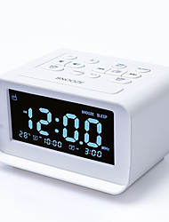 cheap -FM Radio Digital Alarm Clock FM Radio LED Display 12/24H Temperature Detect Dual Alarms 2 USB Chargers Adjustable Brightness Dimmer Outlet powered for Bedroom Kids Heavy Sleepers Adult DC Powered