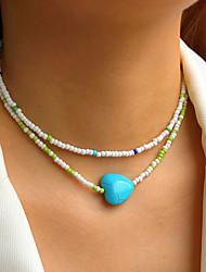 cheap -Jewelry Set Beads Heart Simple Fashion Holiday Sweet Boho Earrings Jewelry 3# For Street Gift Prom Beach Festival