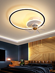 cheap -LED Ceiling Fan Light Circle Design Black+Gold White +Black 45cm Ceiling Fan Aluminum Modern Style Classic Novelty Painted Finishes LED Nordic Style 220-240V 110-120V