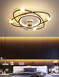 cheap -LED Ceiling Fan Light Planet Design Black Gold 55 cm Circle Design Ceiling Fan Aluminum Artistic Style Vintage Style Modern Style Painted Finishes LED Nordic Style 220-240V 110-120V
