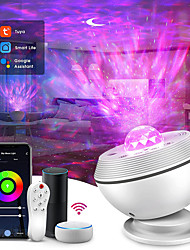 cheap -Star Galaxy Projector Light Projector Light Remote Controlled Laser Light Projector Voice-activated Mode Party Party Halloween Gift  RGB+White