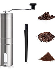 cheap -Manual Coffee Grinder Iced Coffee Maker with Adjustable Coarseness Conical Burr Mill Brushed Stainless Steel Whole Bean Burr Portable Coffee Grinder for Office Home Traveling Camping