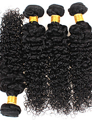 cheap -4 Bundles Hair Weaves Curly Human Hair Extensions 100% Remy Hair Weave Bundles 400 g Natural Color Hair Weaves / Hair Bulk 8-28 inch Natural Color Valentine Gift Life