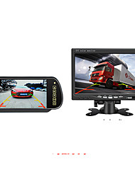 cheap -7 inch rearview mirror car monitor hd reversing image display 12v24v universal rearview dvd lcd screen