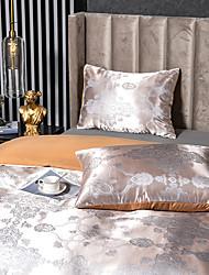 cheap -2 Pack 50*75cm Pillowcases/Pillow Shams Like Satin Silk Soft Luxury Plain/Solid