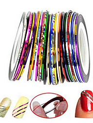 cheap -100 Pcs/set Nail Striping Tape Metallic Yarn Line 3d Nail Art Tool Color Rolls Nail Decals DIY Nail Tips Sticker Decoration
