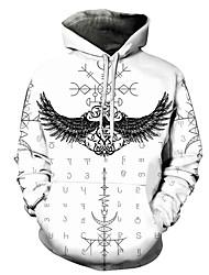 cheap -Men's Unisex Plus Size Pullover Hoodie Sweatshirt Graphic Prints Wings Print Hooded Casual Daily Holiday 3D Print Basic Designer Hoodies Sweatshirts  Long Sleeve White Black