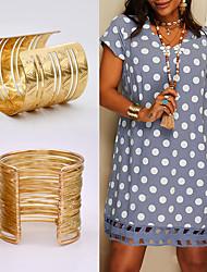 cheap -Women's Bracelet Bangles Vintage Style Fashion Vintage Holiday Cute Sweet Boho Alloy Bracelet Jewelry Gold For Sport Date Birthday Beach Festival
