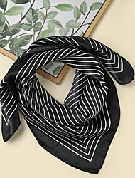 cheap -Women's Square Scarf Party Black and White Scarf Striped