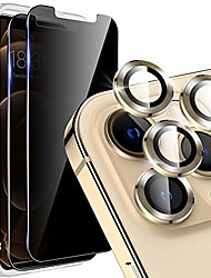 cheap -[2+3 pack] lk 2 pcs anti spy privacy tempered glass screen protector + 3 pcs camera lens protector compatible for iphone 12 pro max 6.7 inch, [precise cut out] separated camera cover circle - gold