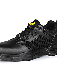 cheap -Safety Work Boots Steel Toe Cap Trainers For Mens Sporty Office & Career PU Water Proof Non-slipping Booties Ankle Boots Summer Fall Spring
