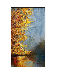 cheap -Oil Painting Handmade Hand Painted Wall Art Abstract Living Room Home Decoration Decor Stretched Frame Ready to Hang