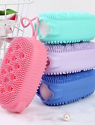 cheap -Exfoliating Silicone Body Scrubber Loofah Massager Double Sided Bath Body Brush Shower Brush Fast Foaming Scrubbing Spa