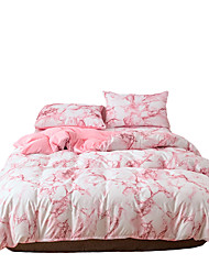 cheap -Duvet Cover Queen Pink  Duvet Cover Set with Soft and Warm 100% Washed Microfiber Also as Marble Comforter Cover or Quilt Cover 3 Piece Bedding Set with Zipper